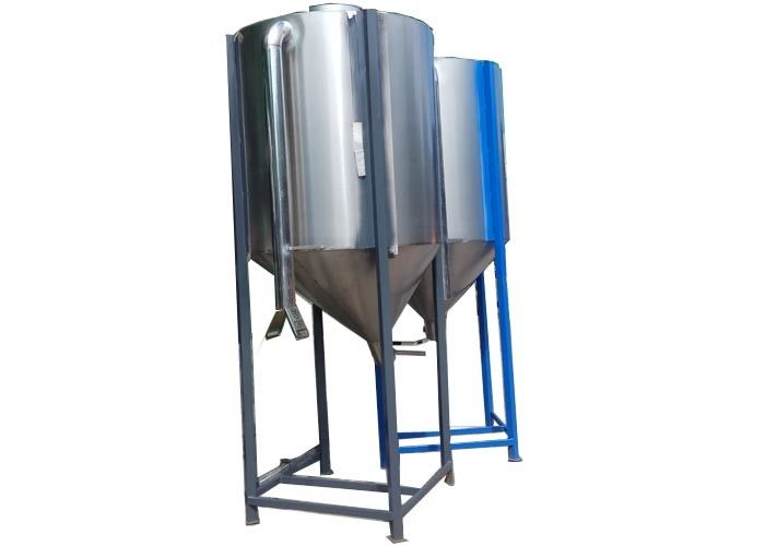 350kg Stainless Steel Conical Hopper , Fast Feeding Hopper Stainless Steel