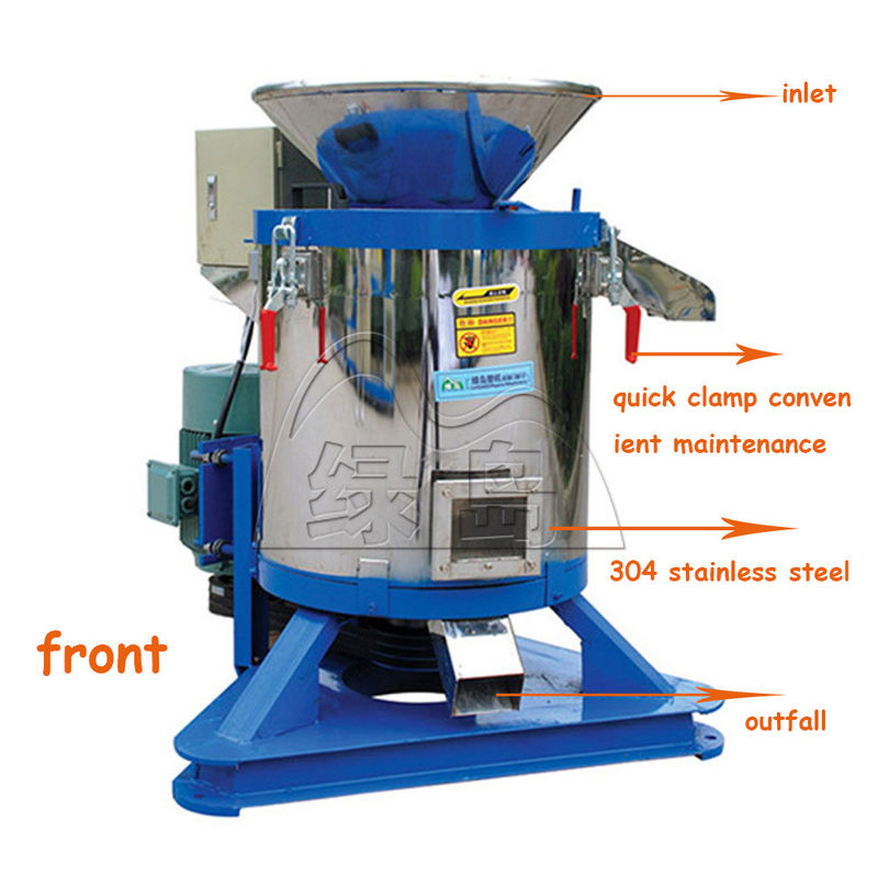 7.5kw Low Noise Plastic Scrap Dryer Machine Custom Coolor With 1 Year Warranty