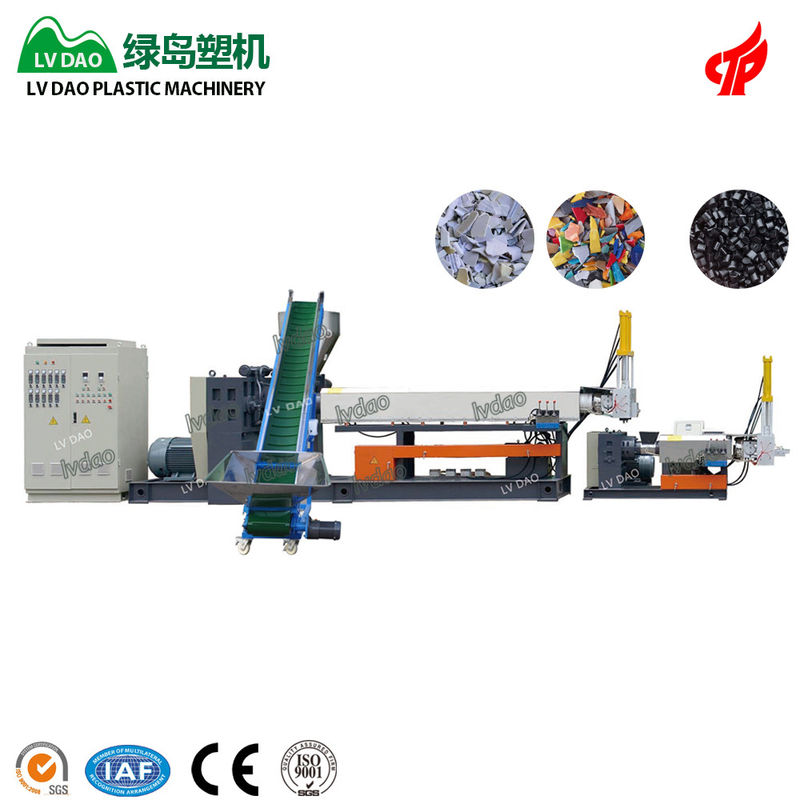 Efficient Plastic Recycling Equipment 220 - 250kg/H Capacity 70r/Min Screw Rotate Speed